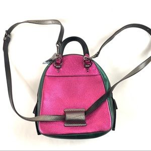 Coach Bags - NEW Coach Mini Backpack Purse Leather Colorblock